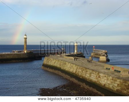 Rainbow Over Whitby Harbour