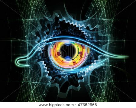 Fractal Vision Background