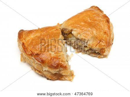 Freshly baked Cornish pastie