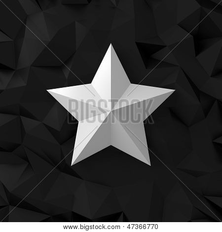 Chrome Star On The Black
