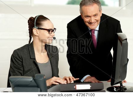 Successful Business Team Working Together
