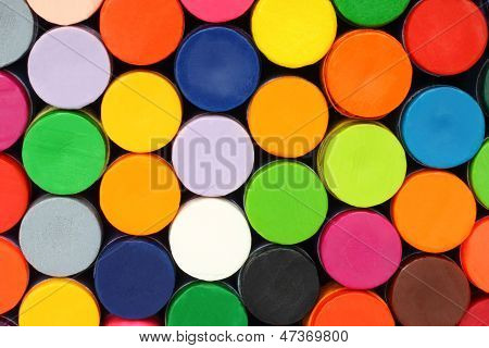Stationery color pencils background