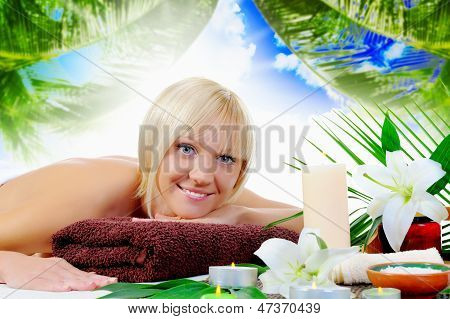 Woman in a spa salon