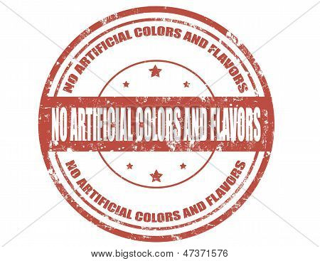 No Artificial Colors And Flavors-stamp