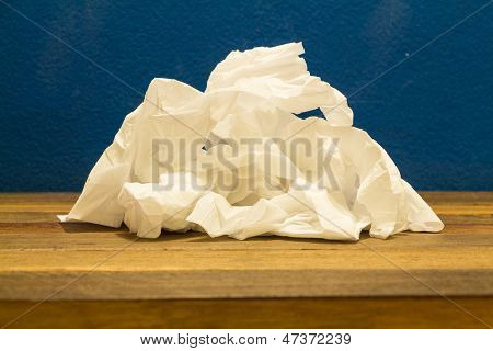 Stack Of Used Tissue.