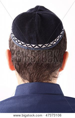 Guy wearing a kippah