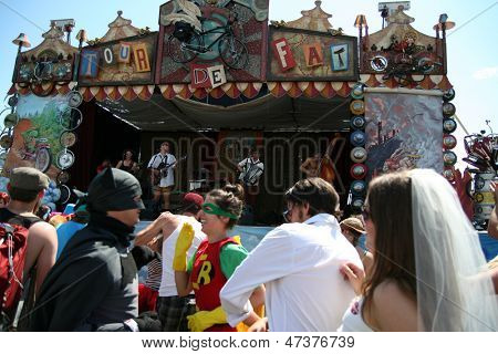 BOISE, ID - AUG 20: Participants in the Tour De Fat annual show in Ann Morrison Park oh August 20, 2011 in Boise, Idaho.