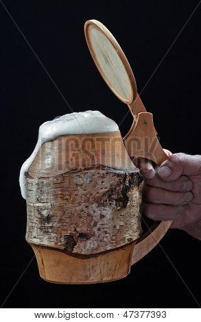 Mug With Beer And Foam