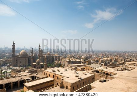 View of Cairo slums