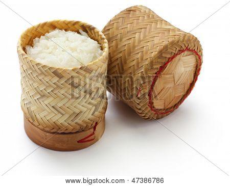 envase de arroz pegajoso de bambú de Tailandia laos
