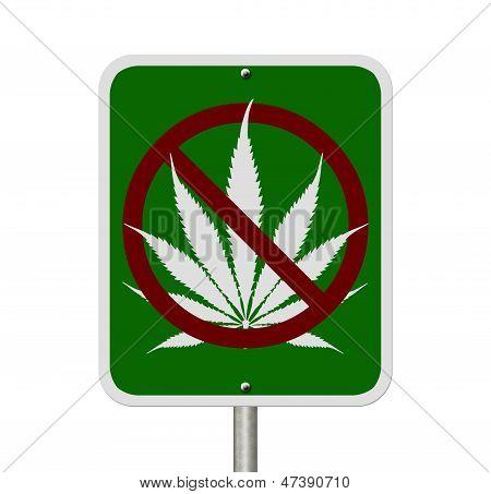 No Driving Under The Influence Of  Marijuana