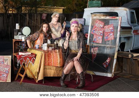 Gypsy Travellers Outside