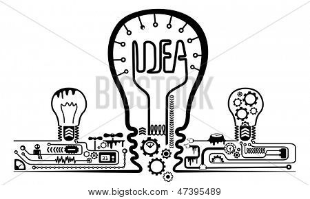 Creative idea concept visual