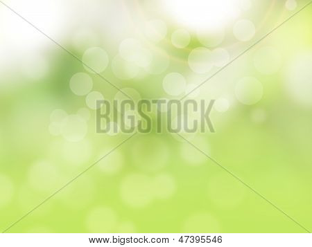 Green abstract spring background