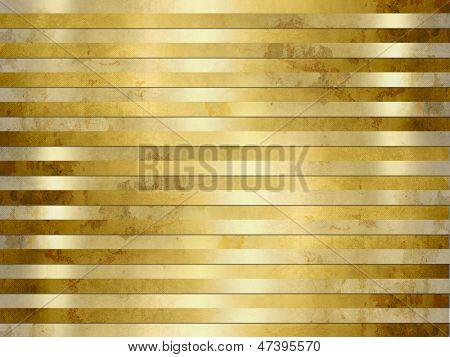 Golden background texture - grunge metal stripes