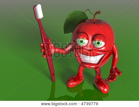 Apple com um grande sorriso