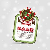 stock photo of candy cane border  - Christmas Sale Tag - JPG