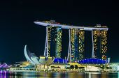 Singapore - June 6 : Marina Bay Sands At Night , World's Most Expensive Standalone Casino Property I