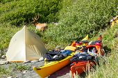 foto of kayak  - Kayak camping in Siskiyou Wilderness North California - JPG