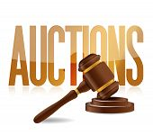 Word Auction And Wooden Gavel