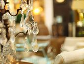 picture of chandelier  - Chrystal chandelier close - JPG