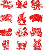 foto of counting sheep  - animals are used in the Chinese lunar calendar as symbols of the counting system - JPG