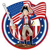 Постер, плакат: Американский патриот эмблема