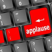 image of applause  - business concept - JPG