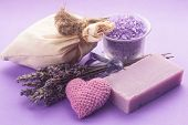 image of sachets  - Dried lavender for aromatherpy and spa - JPG