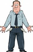 stock photo of unemployed people  - A man with empty pockets vector illustration - JPG