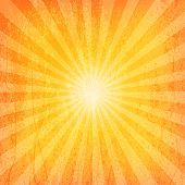 stock photo of sun flare  - Sun Sunburst Grunge Pattern - JPG