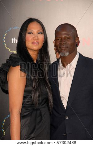 Kimora Lee and Djimon Hounsou  at the
