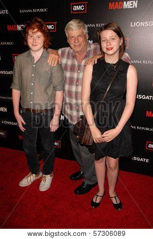 Robert Morse with Charles and Allyn Morse at AMC's