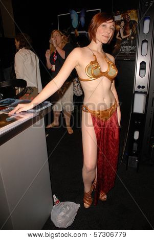 Jessica Jaszczak  at the annual Slave Leia Group Photo at ComicCon, San Diego Convention Center, San Diego, CA. 07-23-10