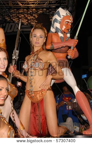 Paula Labaredas at the annual Slave Leia Group Photo at ComicCon, San Diego Convention Center, San Diego, CA. 07-23-10