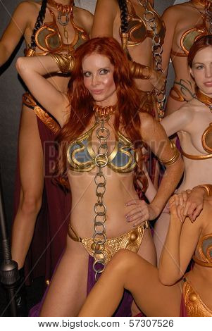 Alicia Arden at the annual Slave Leia Group Photo at ComicCon, San Diego Convention Center, San Diego, CA. 07-23-10