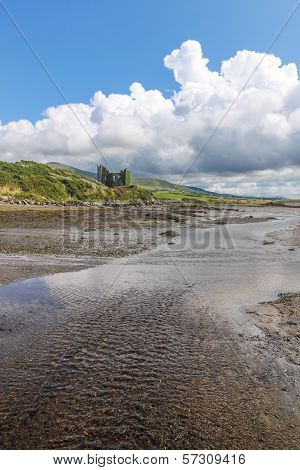 Ballycarbery Castle With Tidal Creek