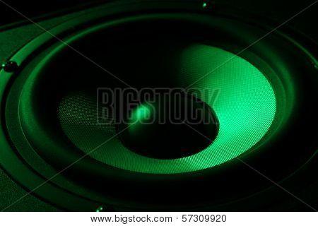 black loud speakers