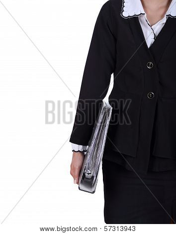 Women Holds The Document Case In Hand