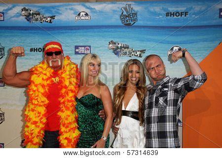 Hulk Hogan and Nick Hogan at the Comedy Central Roast of David Hasselhoff, Sony Studios, Culver City, CA. 08-01-10