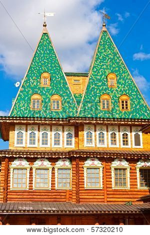 Wooden palace in Russia