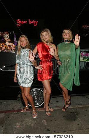 models Bridgetta Tomarchio, Ashley King, Rena Riffel  at the Girls and Corpses Magazine Summer Alien Autopsy Issue Party, Meltdown Comics, Hollywood, CA. 08-20-10