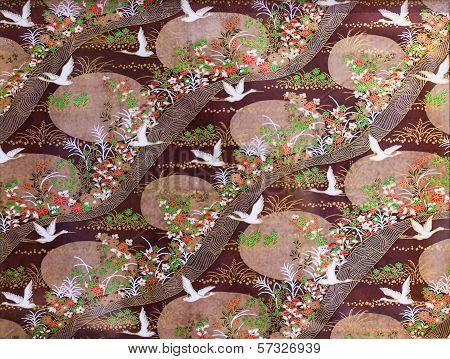 Flying Cranes Texture Macro