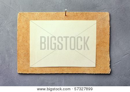 Cardboard With White Paper
