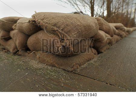 Sandbag Protective Wall