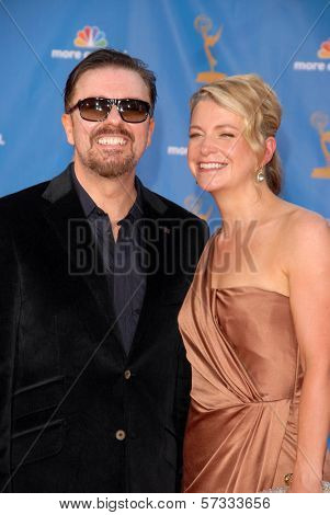 Ricky Gervais  at the 62nd Annual Primetime Emmy Awards, Nokia Theater, Los Angeles, CA. 08-29-10
