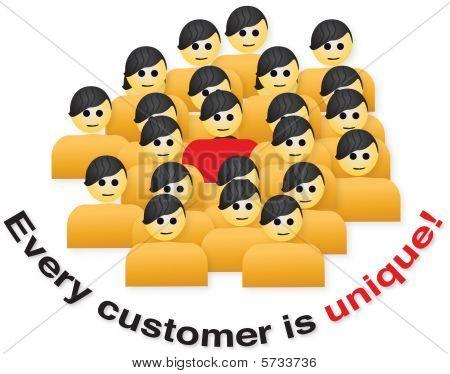 Cada cliente é único
