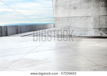 Modern outdoor concrete space