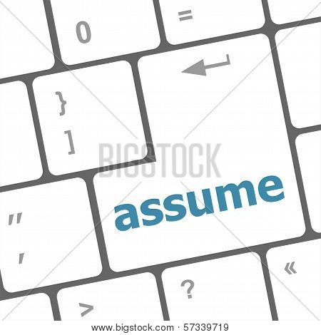 Keyboard With Enter Button, Assume Word On It