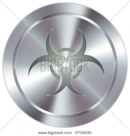 Modern biohazard button